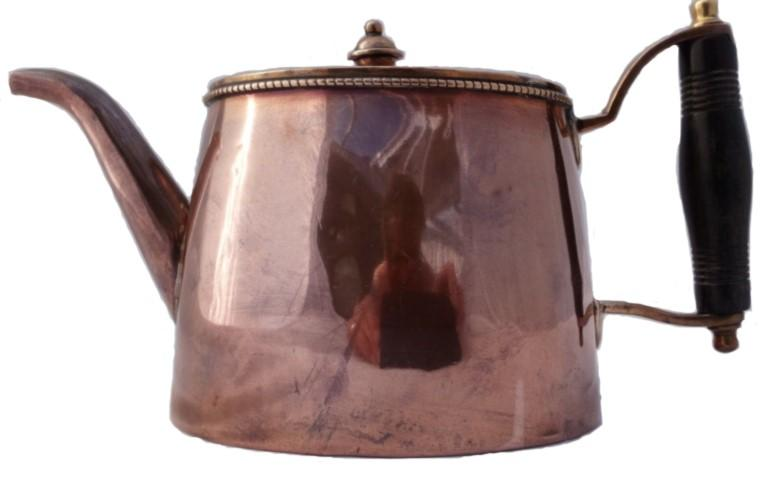 Antique Copper Teapot Arts & Crafts William Soutter & Sons Bham 4 Gill c 1910