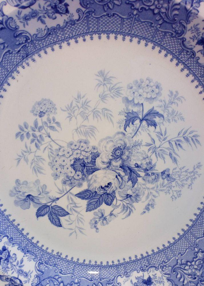Minton and Boyle Blue and White The Sylvan Pattern Charger Dish 36 cm diameter circa 1836