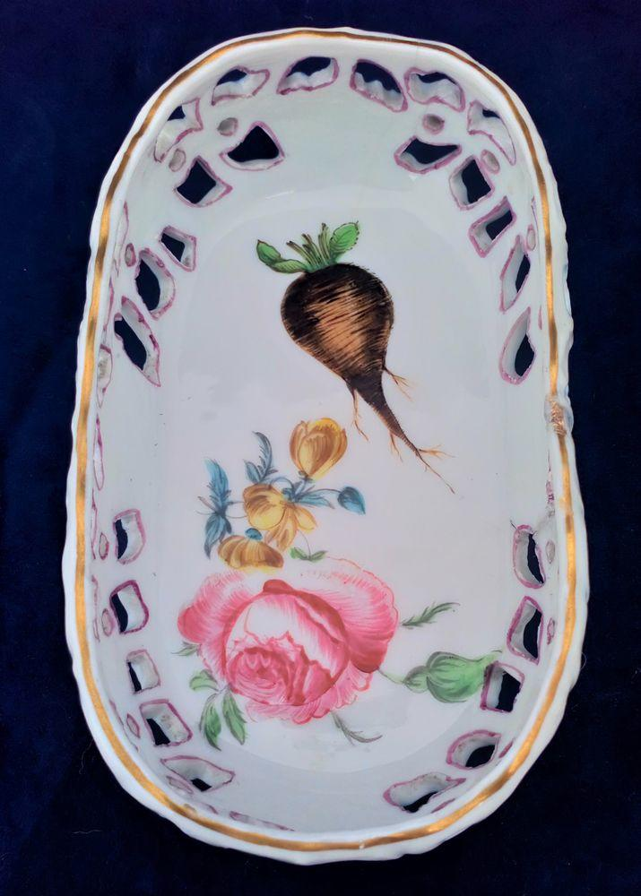 Antique Marcolini Period Meissen Porcelain Reticulated Basket or Dish c 1800