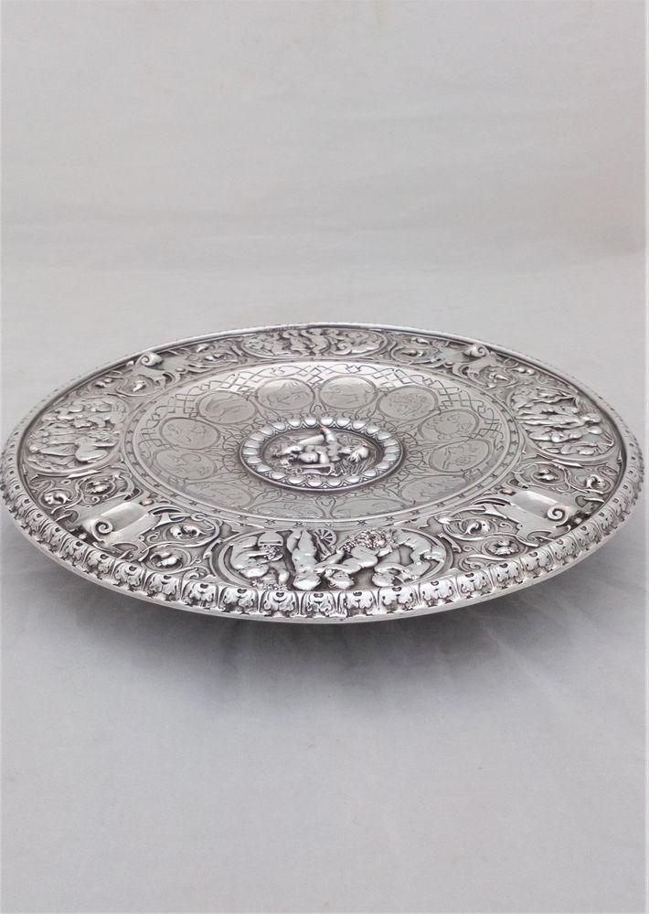 Antique Victorian Elkington Mason and Co Publishers Fine Art Manufacture Silver Plated Electrotype Zodiac Tazza or Salver circa 1850