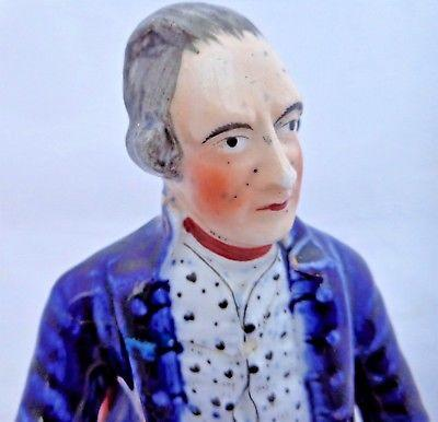 Antique Staffordshire Figure Captain James Cook c 1845 Alpha Factory Rare Piece