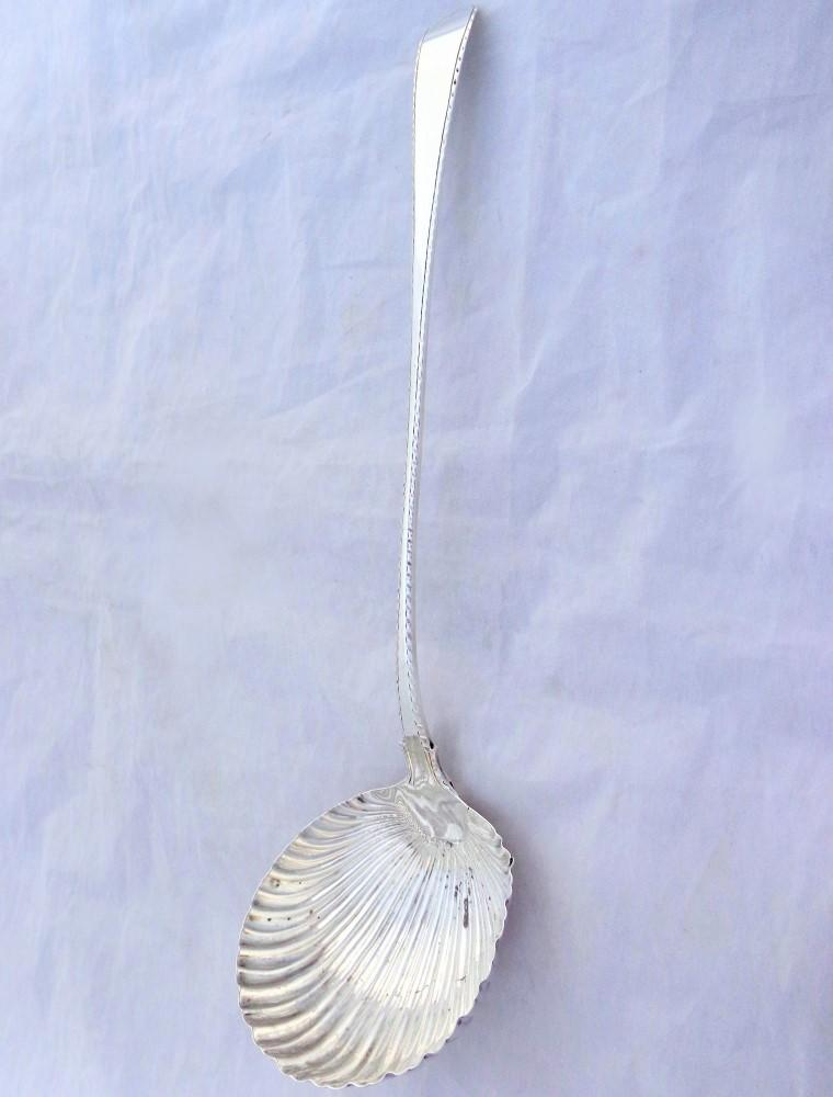Georgian Silver Ladle Shell Shape HM London 1767 George Baskerville 148g Antique