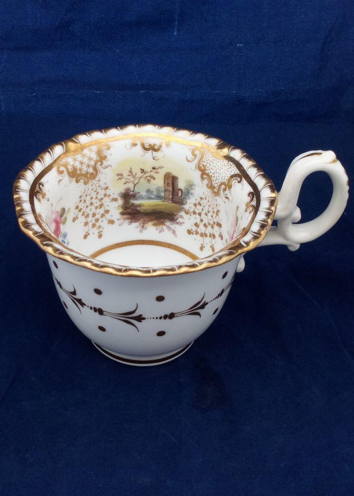 Daniel Porcelain 2nd Gadrooned Shape Coffee Cup 4347 pattern c 1827
