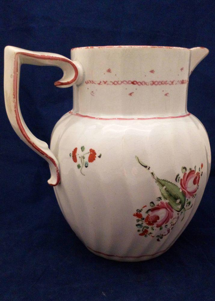 Pearlware Spiral Fluted Jug J and W Turner pattern 122 c 1795