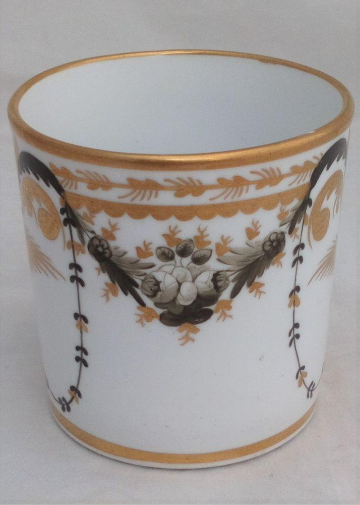 Josiah Spode Porcelain Coffee Can Hand Painted Antique Georgian c 1790 - 1805
