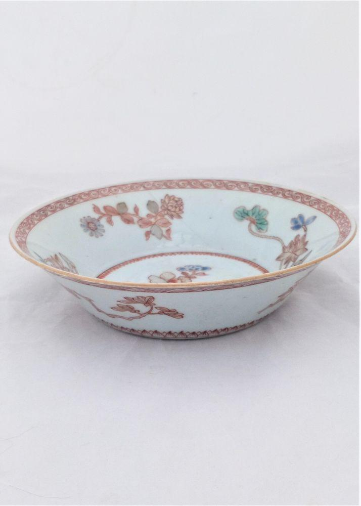 Chinese Porcelain Patty Pan Painted Gilded Qianlong 乾隆 Qing 清代 c 1750