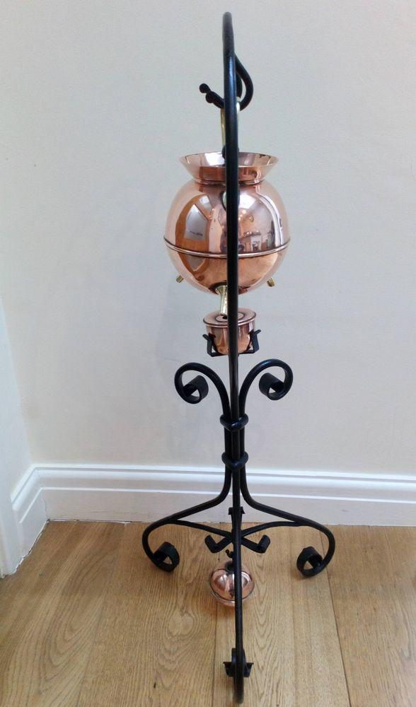 Arts and Crafts Benham Froud Spirit Kettle Wrought Iron Stand C Dresser c 1890