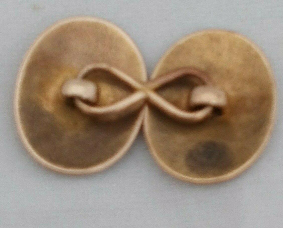Antique Victorian 15ct Gold Single Cuff Link Aesthetic Movement Ivy Patt 3.1 g