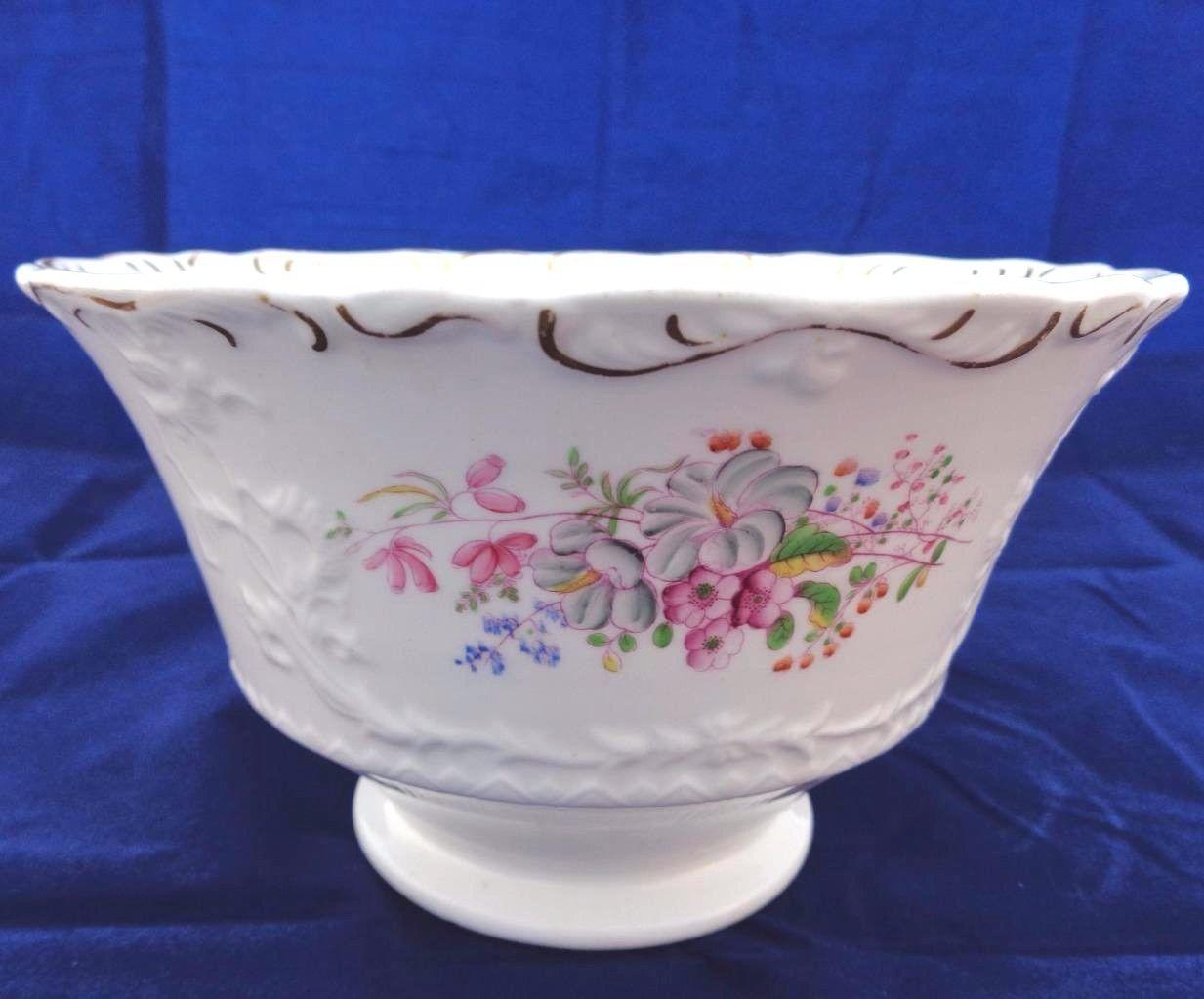 Antique Zachariah Boyle Relief Moulded Porcelain Milk Jug & Basin Pat 403 c 1835