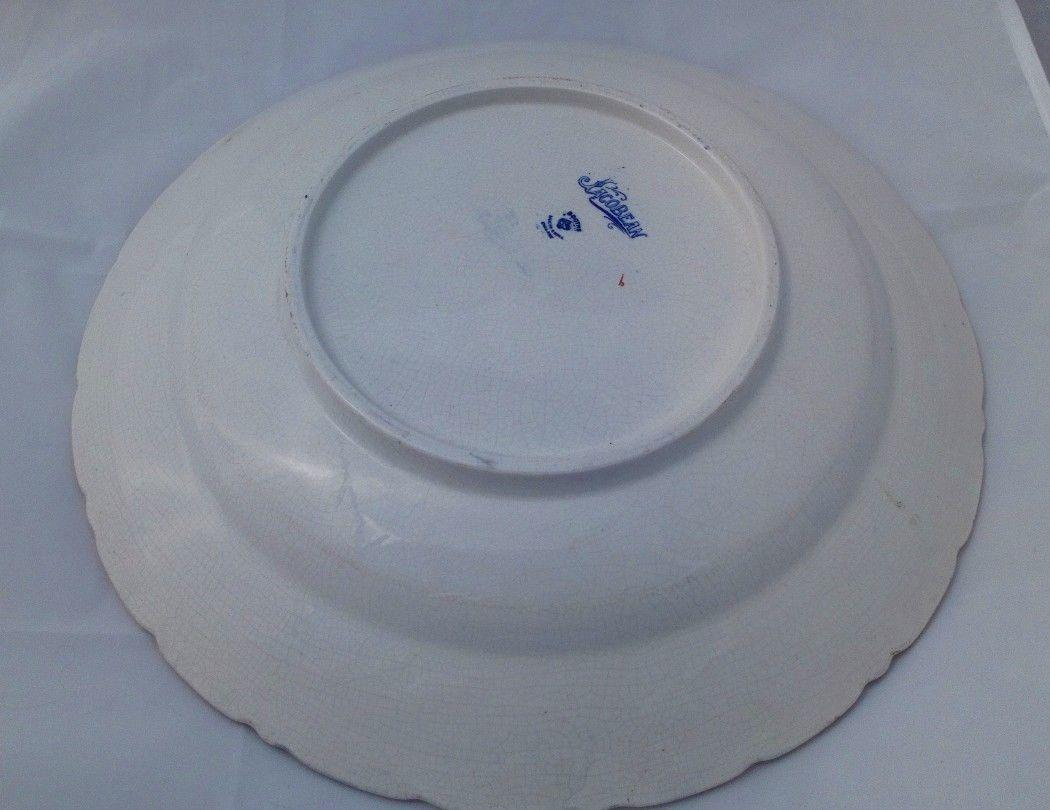 Booths Jacobean Pattern Shallow Bowl or Charger Silicon China c 1920