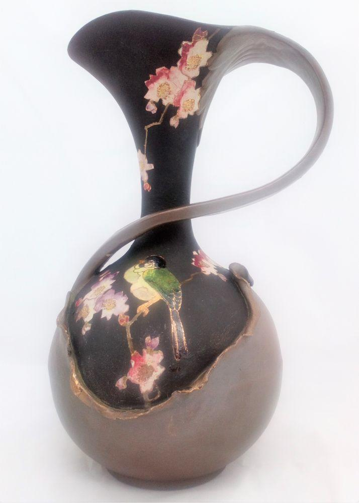 Bretby Art Nouveau Ewer Shape 797 E Copper Cloisonne Henry Tooth and Co