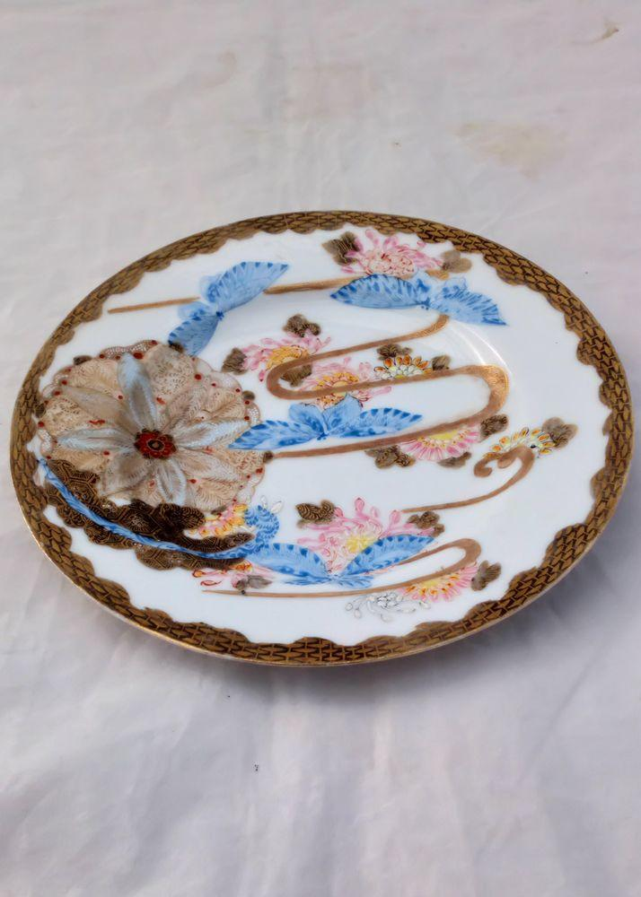 Antique Japanese Porcelain Tashiro Hand Painted Plate late Meiji Period ca 1910