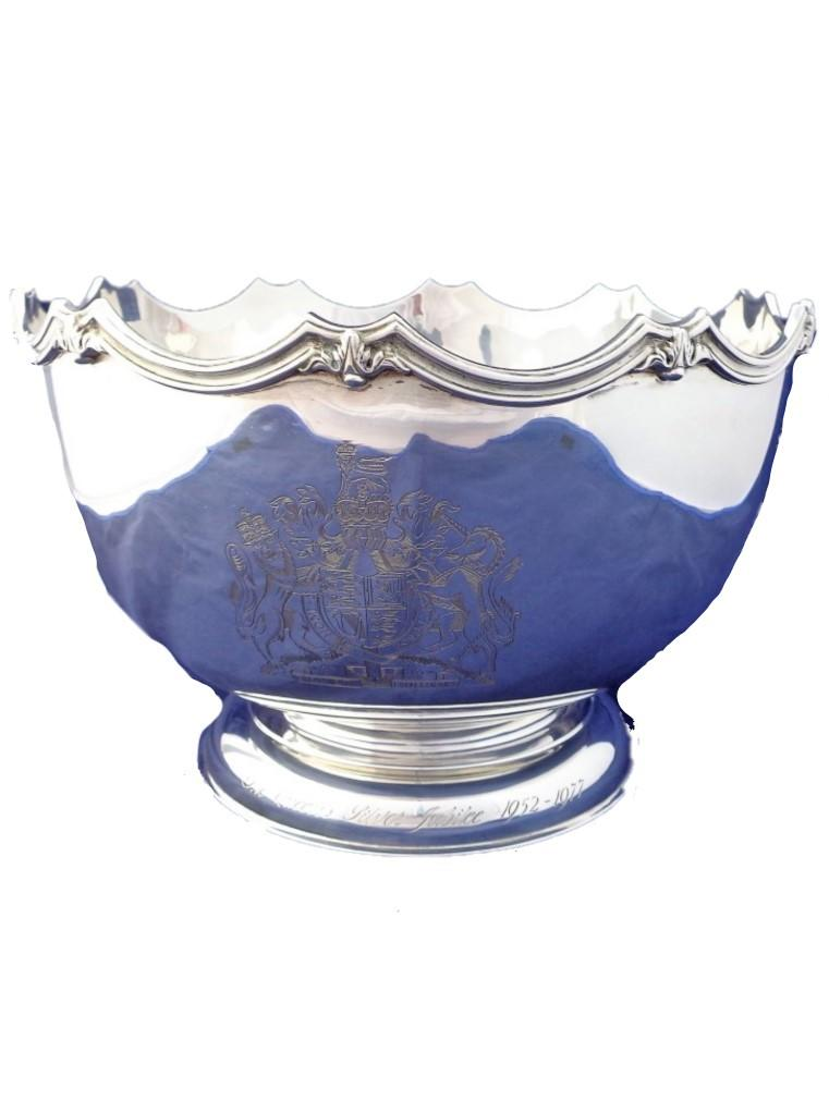 Silver Punch Bowl Monteith Large Georgian Style HM London 1977 #1 of 250 2.277Kg