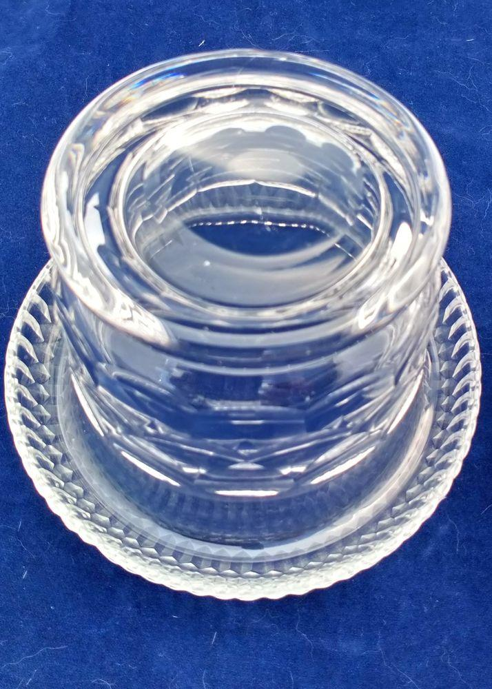 Antique Georgian Lidded Cut Glass Butter Dish Turn Over Rim Anglo Irish Regency c 1810