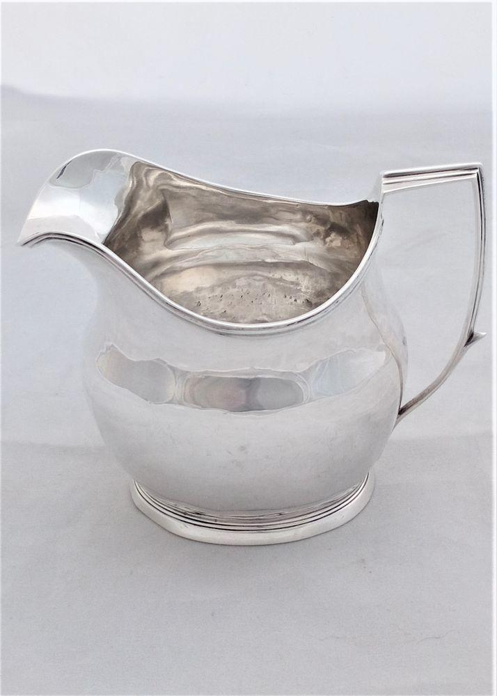 George III Silver Cream or Milk Jug HM Sterling London 1807 IM Antique 107g