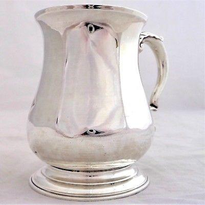 George II Tankard Silver Mug HM Sterling London 1754 RG Half Pint Antique 242g
