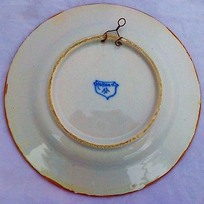 Vintage Blue & White Faience Wall Plate Holland Frisian Hand Painted Proverb NL