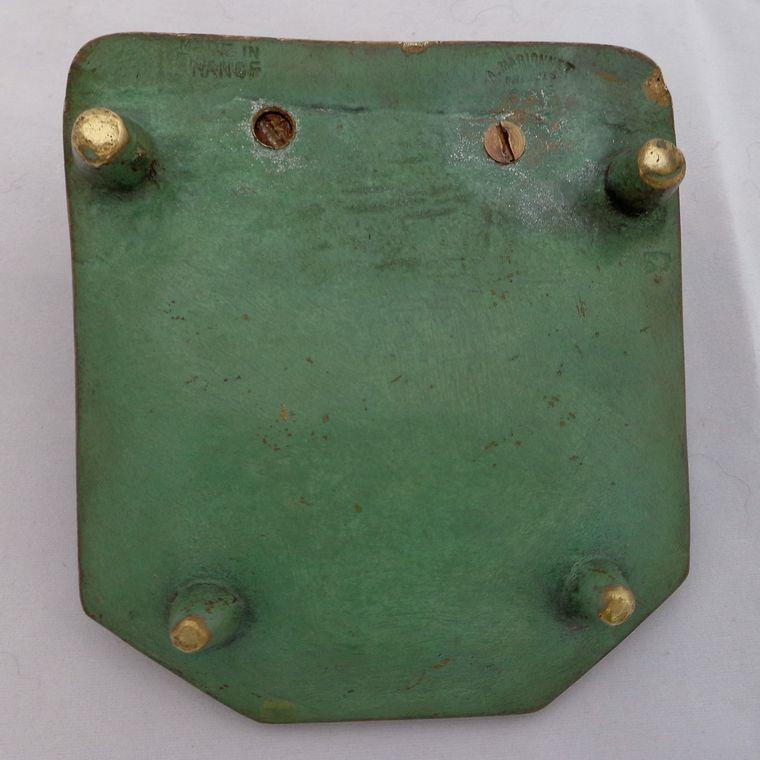 Antique French Cold Painted Bronze Coin Tray Vide Poche A Marionnet Paris c 1900