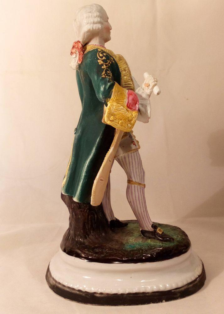 Porcelain Figure George III as of 1770 Polychrome enamel Antique 19th C
