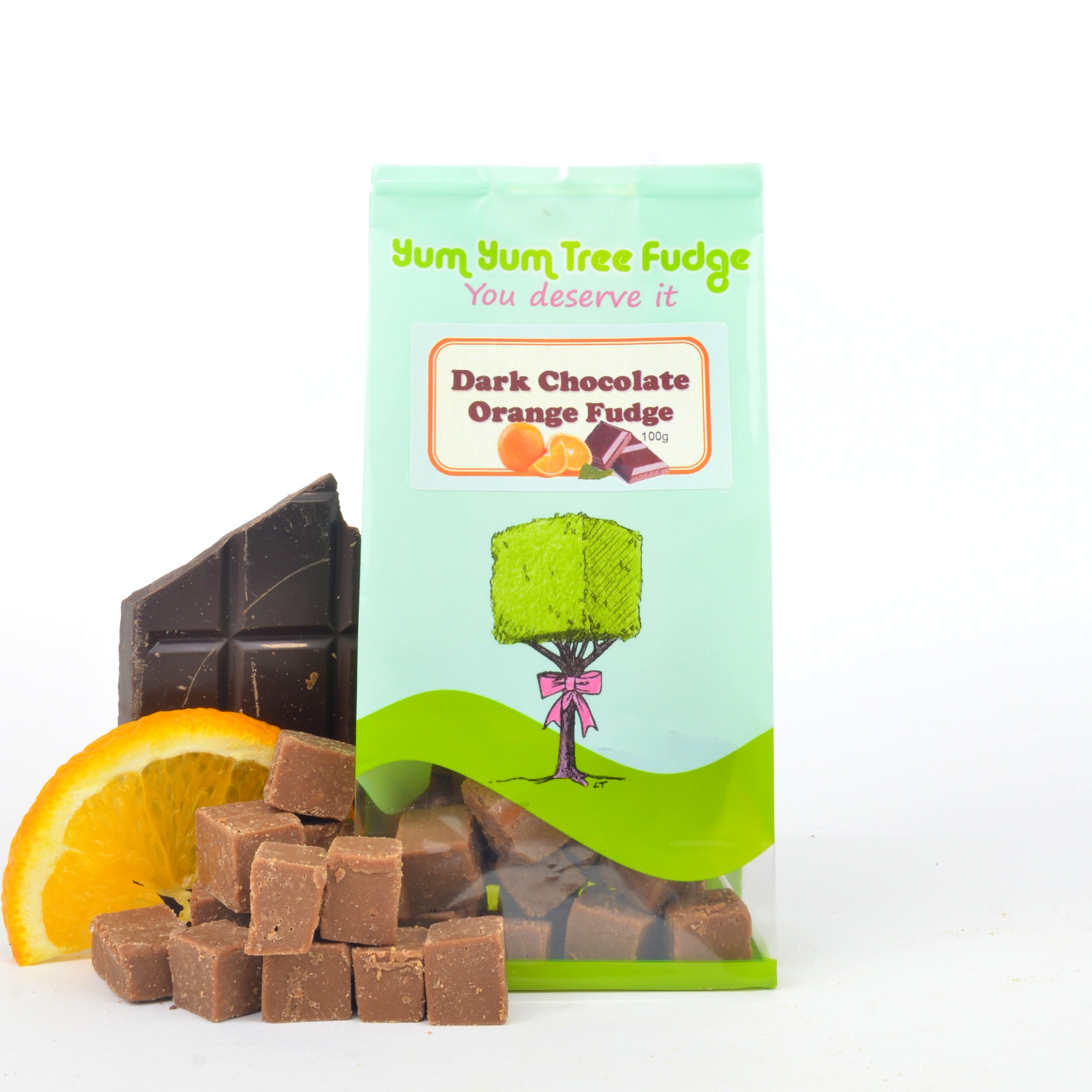 Dark Chocolate Orange Fudge 100g