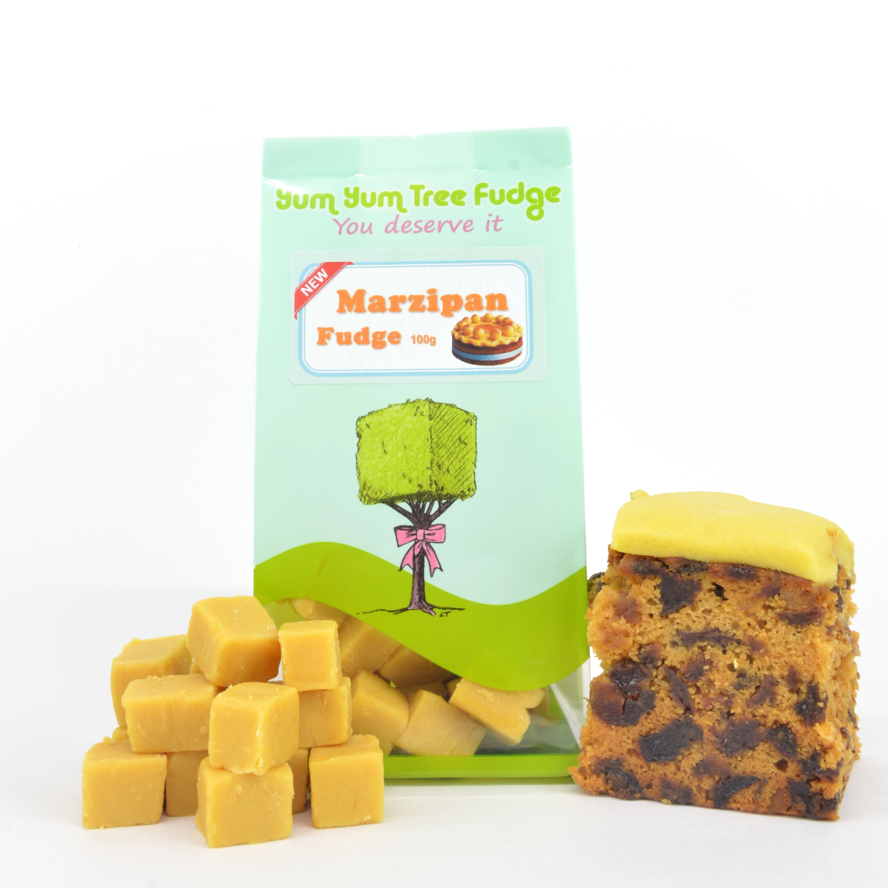 Marzipan Flavoured Fudge 100g