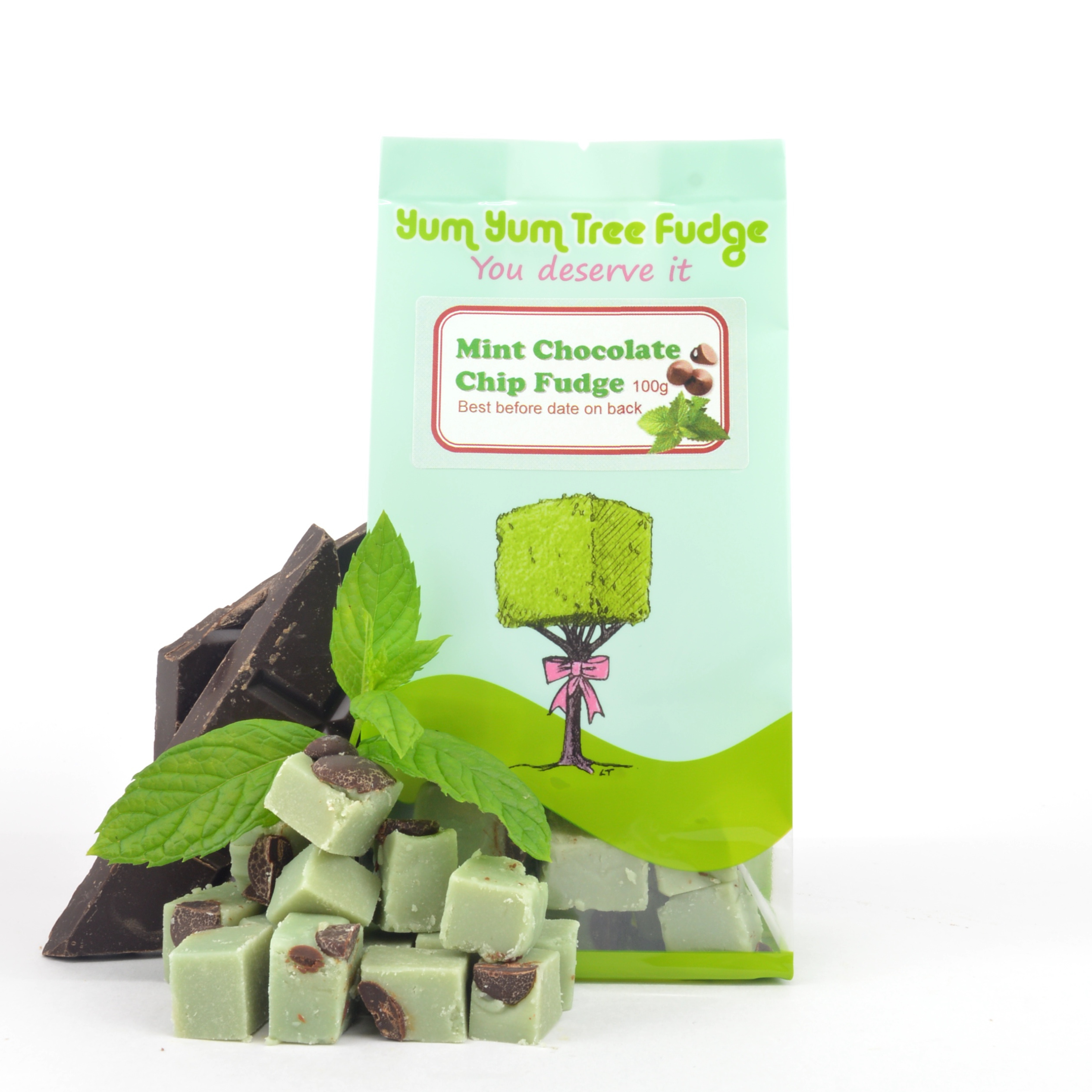 Mint Choc Chip Fudge by Yum Yum Tree Fudge