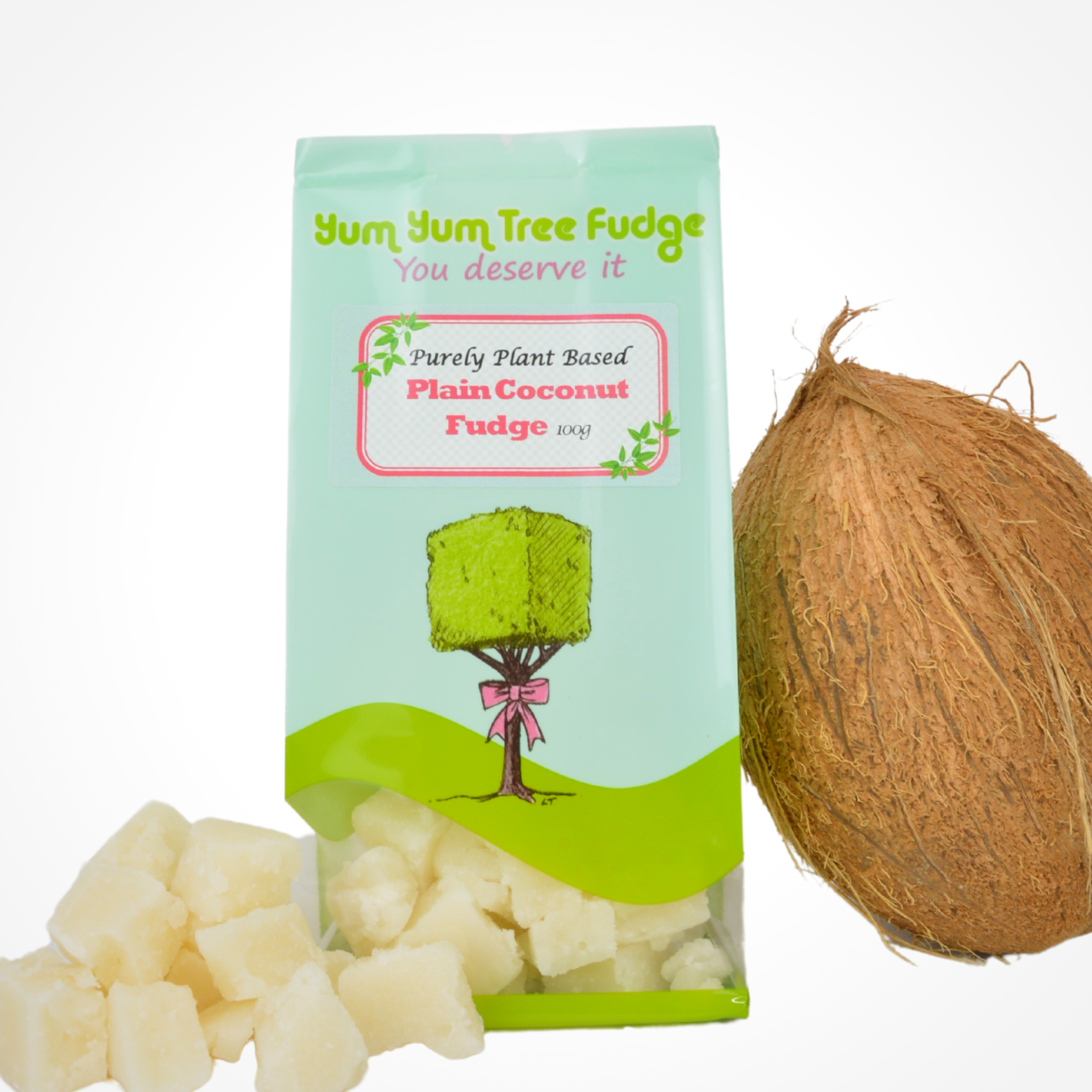 Purely Plant  Based Plain Coconut Fudge by Yum Yum Tree Fudge