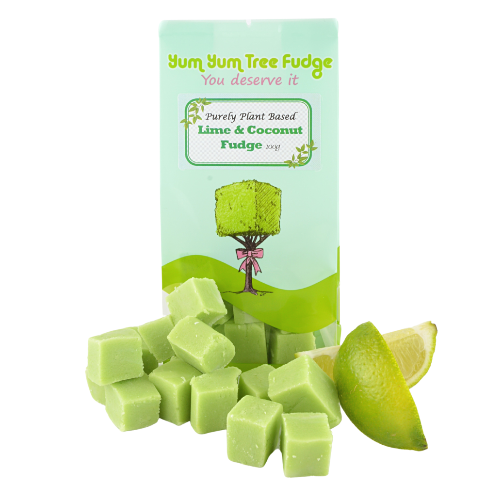 Plant based Lime and Coconut Fudge by Yum Yum Tree Fudge