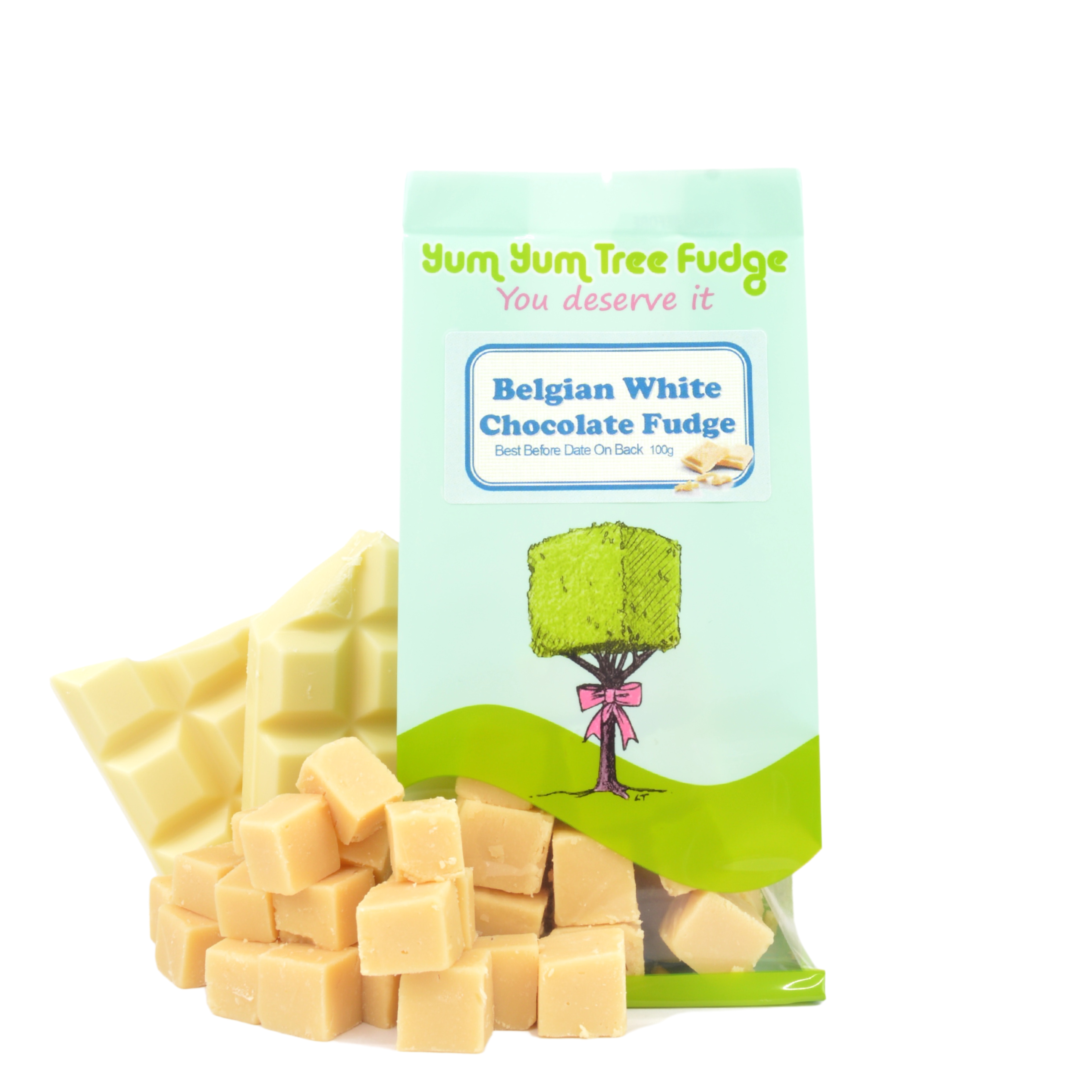 Belgian White Chocolate Fudge