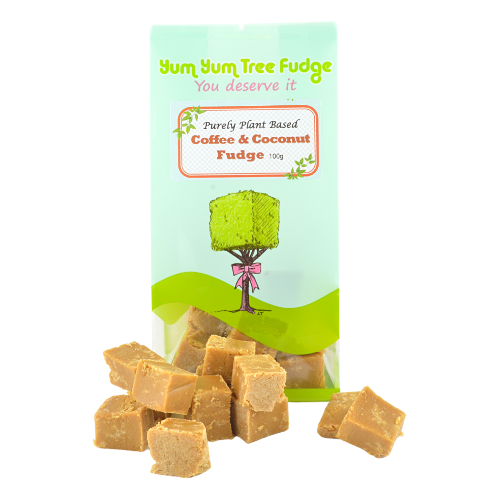 Plant Based Coffee & Coconut Fudge by Yum Yum Tree Fudge