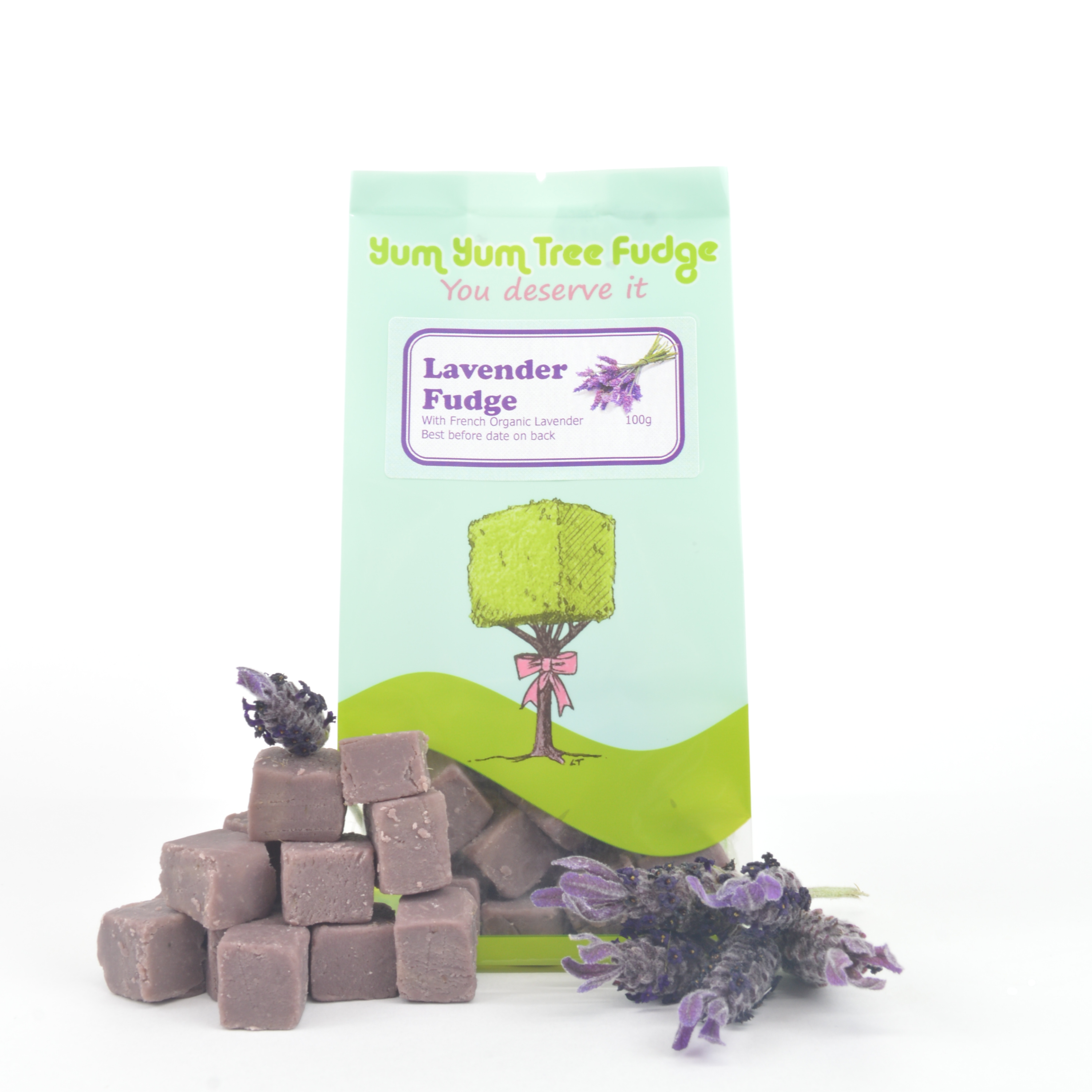 Lavender fudge 100g Yum Yum Tree Fudge