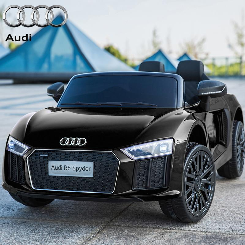 12V Licensed Black Audi R8 Spyder Battery Ride On Car