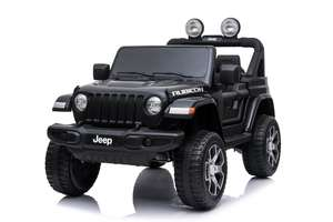 12V Licensed Jeep Rubicon 2 Seater Ride On Car Black