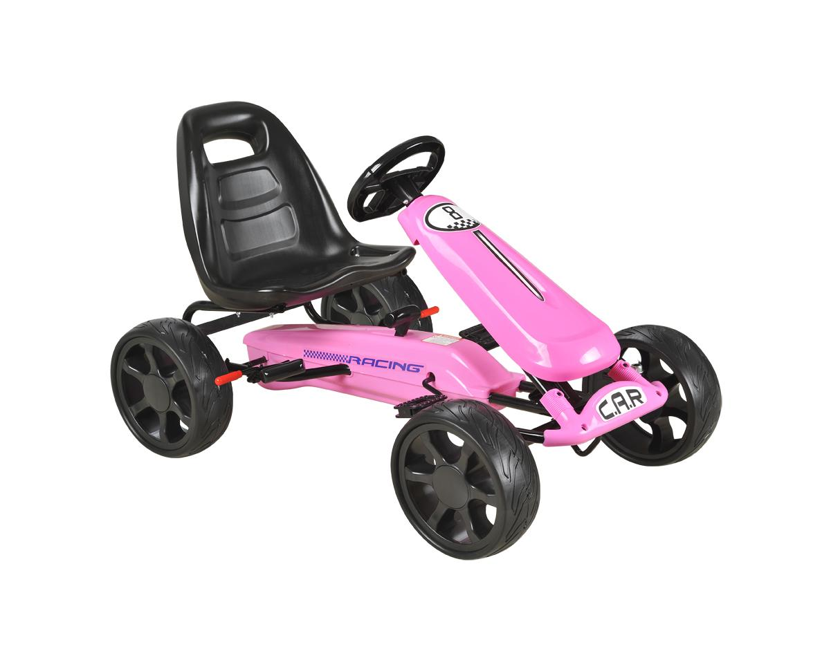 Pink Pedal Sports Kart with EVA wheels