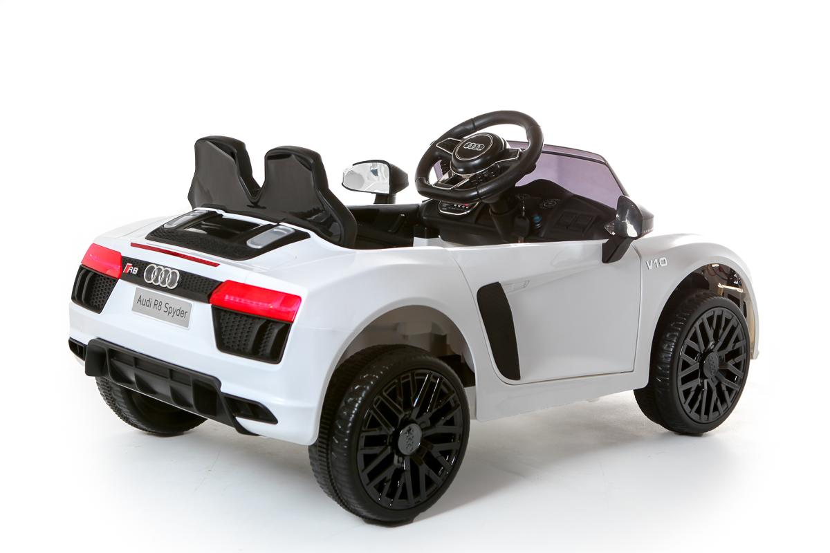 12V Licensed White Audi R8 Spyder Battery Ride On Car