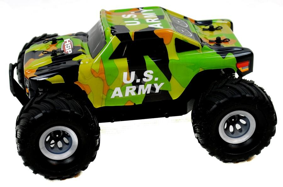 Bigfoot 1/24 Electric RC Car 2.4GHz RTR - Army Hummer Truck