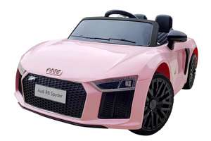 12V Licensed Pink Audi R8 Spyder Battery Ride On Car