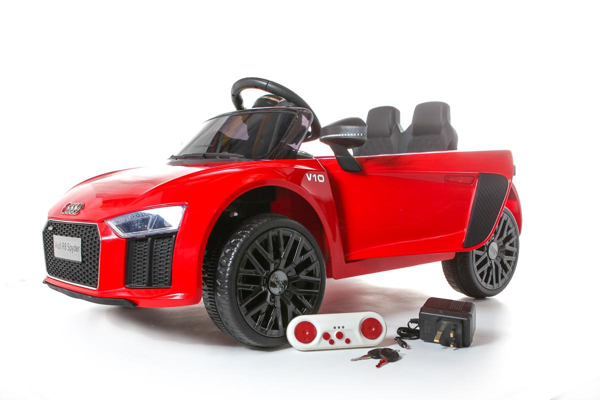 12V Licensed Red Audi R8 Spyder Battery Ride On Car