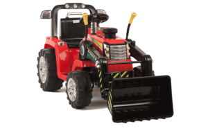 Red R/C Twin Motor Tractor - 12V Kids' Electric Ride On Tractor