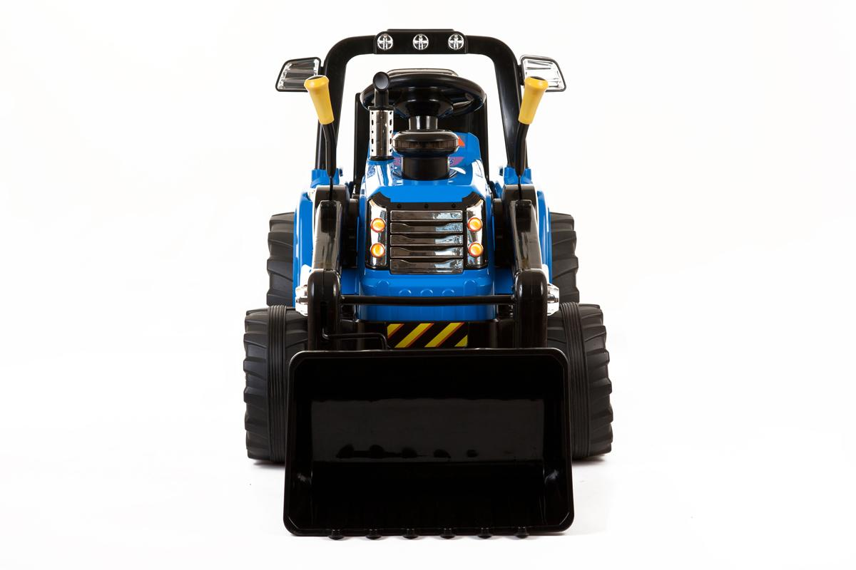 Blue R/C Twin Motor Tractor - 12V Kids' Electric Ride On Tractor