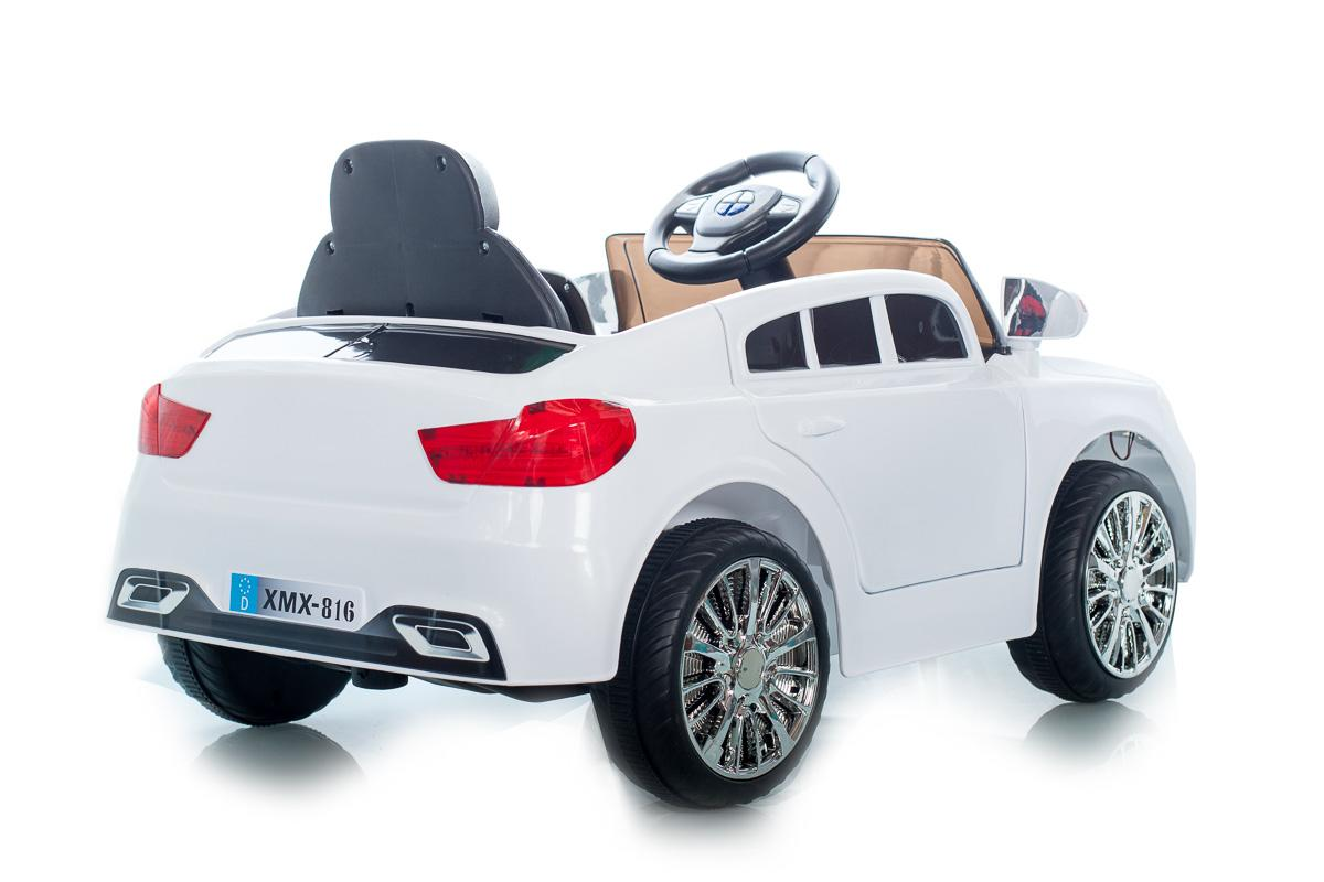 White C Class Saloon - 12V Kids' Electric Ride On Car