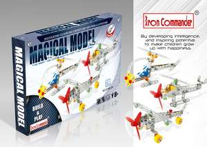 Kids' 3 Mixed Airplane DIY Set 210 pcs