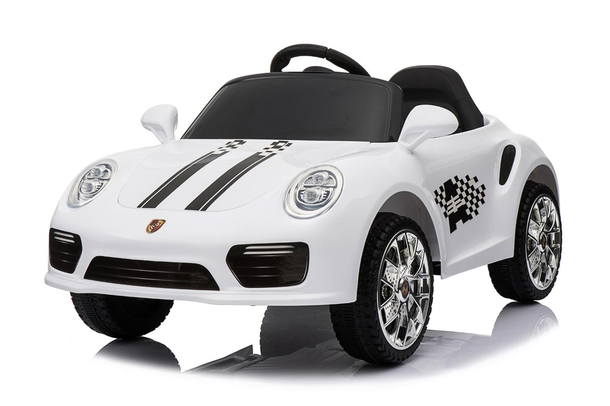 12V White Roadster Ride On Car