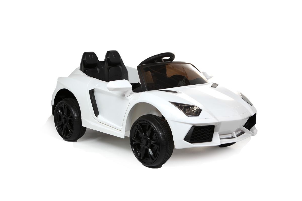 12V White Roadster Battery Ride On Car
