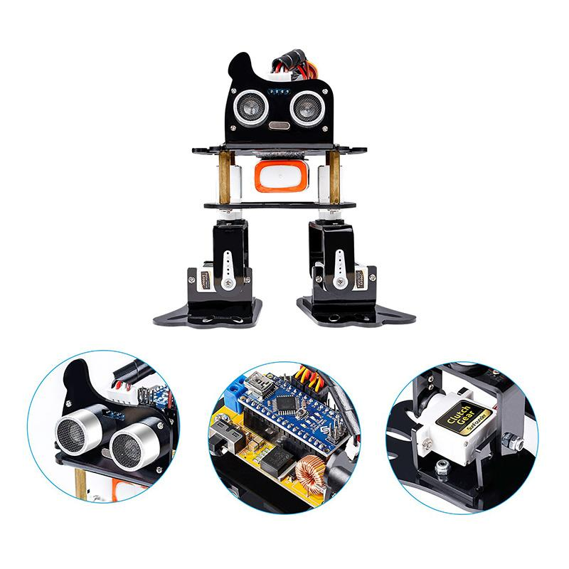 SunFounder DIY 4DOF Robot Kit Program Learning Kit for Arduino Nano