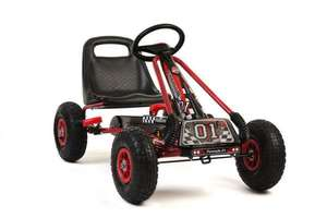 Rubber wheel red and black go kart