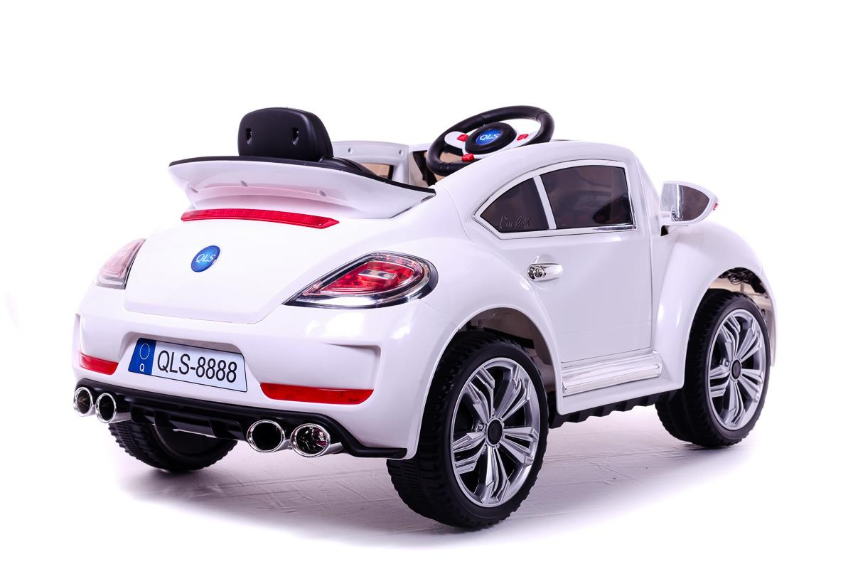 Battery Powered - 12V White Beetle Ride On Car