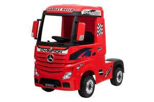 12V Licensed Mercedes Artic Truck Red