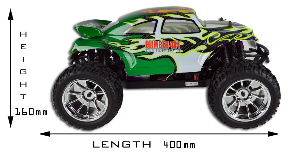 Beetle 1:10 Scale RTR 4WD Radio Controlled Electric Monster Truck 2.4G