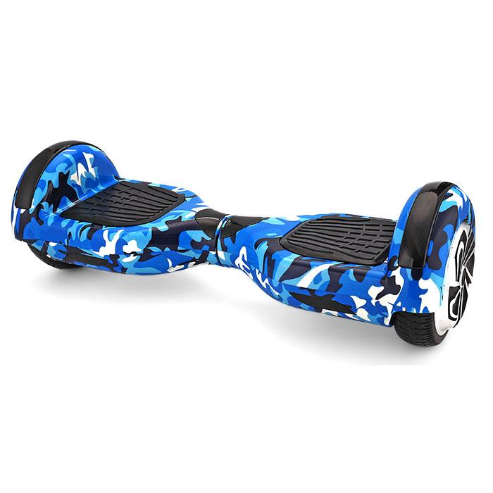 Blue camouflage hoverboard